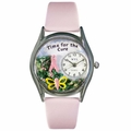 Charitable Fundraiser Time for the Cure Classic Silver Whimsical Watch S 1110002