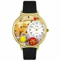 Chihuahua Watch in Gold or Silver Unisex G 0130023