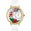 Christmas Gingerbread Watch in Gold or Silver Unisex G 1220004