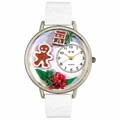 Christmas Gingerbread Watch in Silver Unisex U 1220004