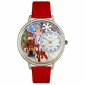 Christmas Nutcracker Watch in Silver Unisex U 1220010