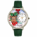 Christmas Reindeer Watch in Silver Unisex U 1220012