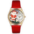 Christmas Santa Claus Watch Classic Gold Style C 1221001
