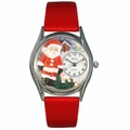 Christmas Santa Claus Watch Classic Silver Style S 1221001