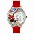 Christmas Santa Claus Watch in Silver Unisex U 1220009