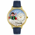 Christmas Snowman Watch in Gold or Silver Unisex G 1220008