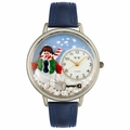 Christmas Snowman Watch in Silver Unisex U 1220008