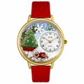 Christmas Tree Watch in Gold or Silver Unisex G 1220002