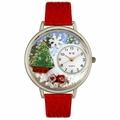 Christmas Tree Watch in Silver Unisex U 1220002