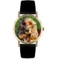 Cocker Spaniel Print Watch in Gold Classic P 0130027