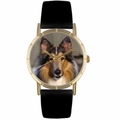 Collie Print Watch in Gold Classic P 0130004