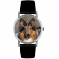 Collie Print Watch in Silver Classic R 0130004