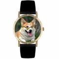 Corgi Print Watch in Gold Classic P 0130029
