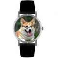 Corgi Print Watch in Silver Classic R 0130029