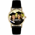Custom Graduation Photo Watch Classic Gold Style P 0000003