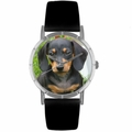 Dachshund Print Watch in Silver Classic R 0130034