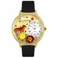 Dachshund Watch in Gold or Silver Unisex G 0130034