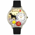 Doberman Pinscher Watch in Silver Unisex U 0130035