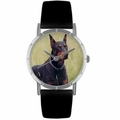 Doberman Print Watch in Silver Classic R 0130035