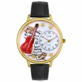 Electric Guitar Watch in Gold or Silver Unisex G 0510004