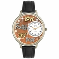 Faith Hope Love Joy Watch in Gold or Silver Unisex U 0710015