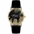 Friesian Horse Print Watch in Gold Classic P 0110025