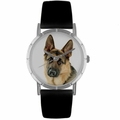 German Shepherd Print Watch in Silver Classic R 0130040