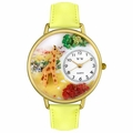 Giraffe Watch in Gold or Silver Unisex G 0150007
