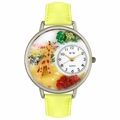 Giraffe Watch in Silver Unisex U 0150007