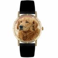 Golden Retriever Print Watch in Gold Classic P 0130042