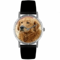 Golden Retriever Print Watch in Silver Classic R 0130042