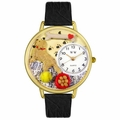 Golden Retriever Watch in Gold or Silver Unisex G 0130042