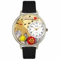 Golden Retriever Watch in Silver Unisex U 0130042