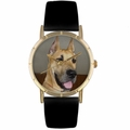 Great Dane Print Watch in Gold Classic P 0130080