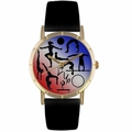 Gymnastics Lover Print Watch Classic Gold Style P 0840024