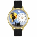 Halloween Flying Witch Watch in Gold or Silver Unisex G 1220001