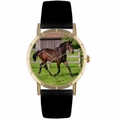 Hanoverian Horse Print Watch in Gold Classic P 0110027