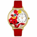 Happy Red Clown Watch in Gold or Silver Unisex G 0210003