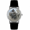Himalayan Cat Print Watch in Silver Classic R 0120039