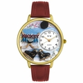 Hockey Mom Watch in Gold or Silver Unisex G 1010020
