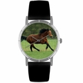 Holsteiner Horse Print Watch in Silver Classic R 0110028