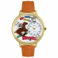 Horse Racing Watch in Gold or Silver Unisex G 0810017