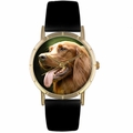 Irish Setter Print Watch in Gold Classic P 0130047