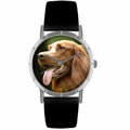 Irish Setter Print Watch in Silver Classic R 0130047