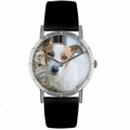 Jack Russel Print Watch in Silver Classic R 0130048