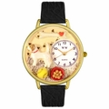 Jack Russel Terrier Watch in Gold or Silver Unisex G 0130048