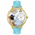 Jewelry Lover Pearls Blue Watch in Gold or Silver Unisex G 0910013