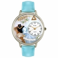 Jewelry Lover Pearls Blue Watch in Silver Unisex U 0910013