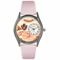 Jewelry Lover Pink Pearls Watch Classic Silver Style S 0910018