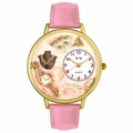 Jewelry Lover Pink Pearls Watch in Gold or Silver Unisex G 0910016